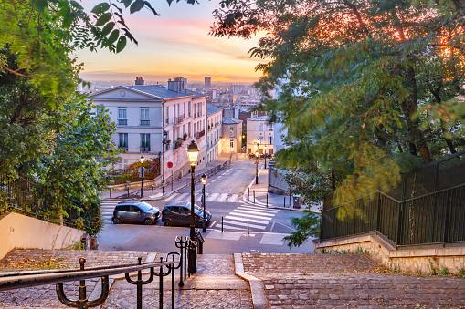 Montmartre staircase, Paris, France
