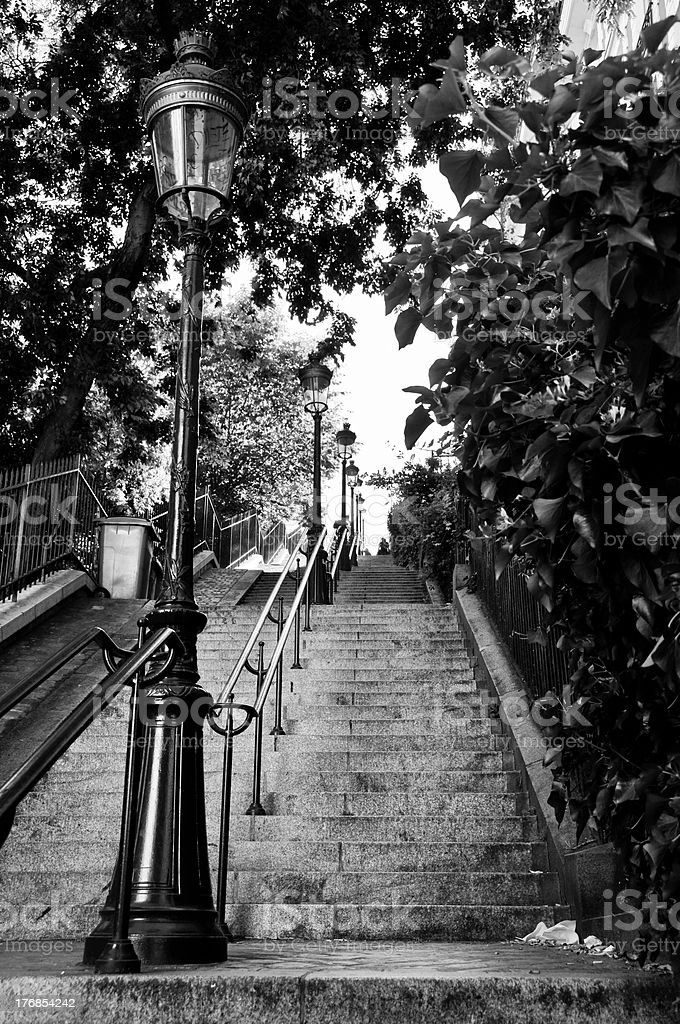 Montmartre escalier - Photo