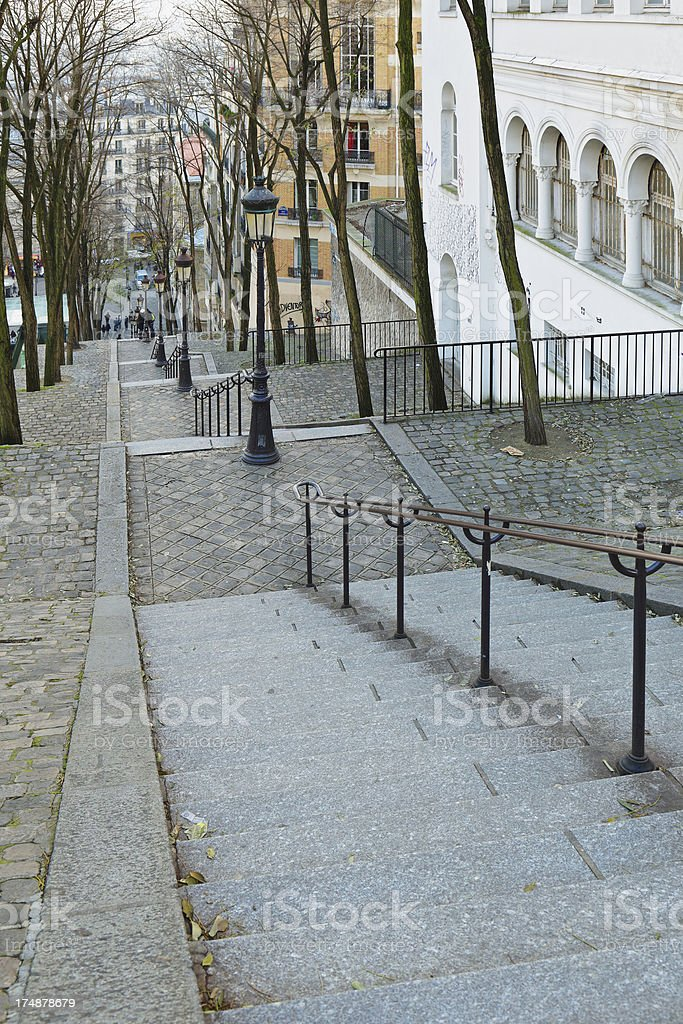 Montmartre Stairs -  Paris royalty-free stock photo