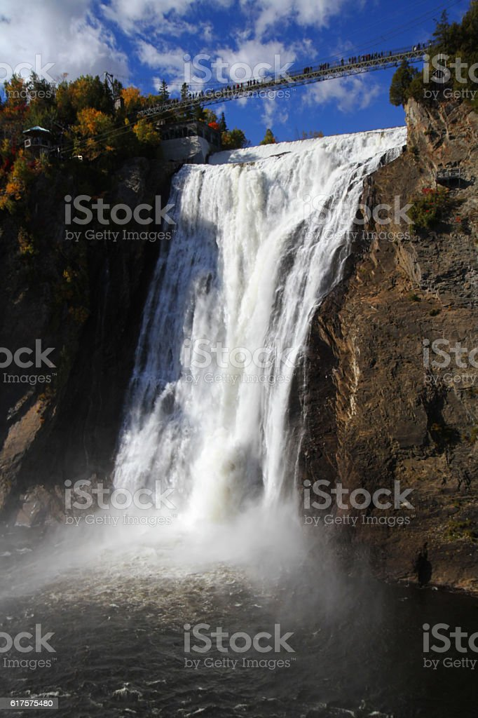 Montmorency Falls, Canada stock photo