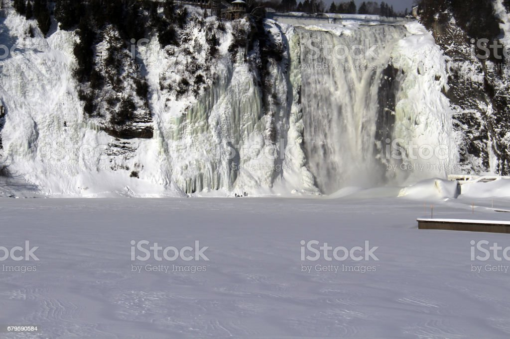 Montmorency Falls - Chutes Montmorency stock photo