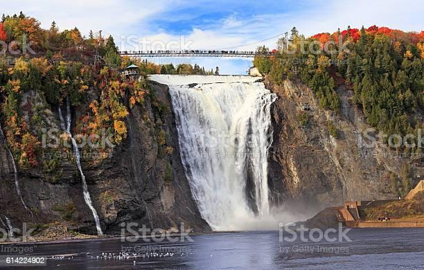 Montmorency falls in autumn quebec canada picture id614224902?b=1&k=6&m=614224902&s=612x612&h= oxpets16kwev7a806dfu8ok n9pdzjapbmyvado0c0=