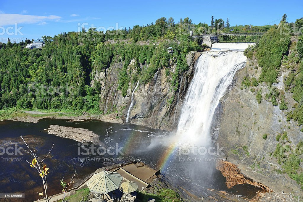 Montmorency Falls royalty-free stock photo