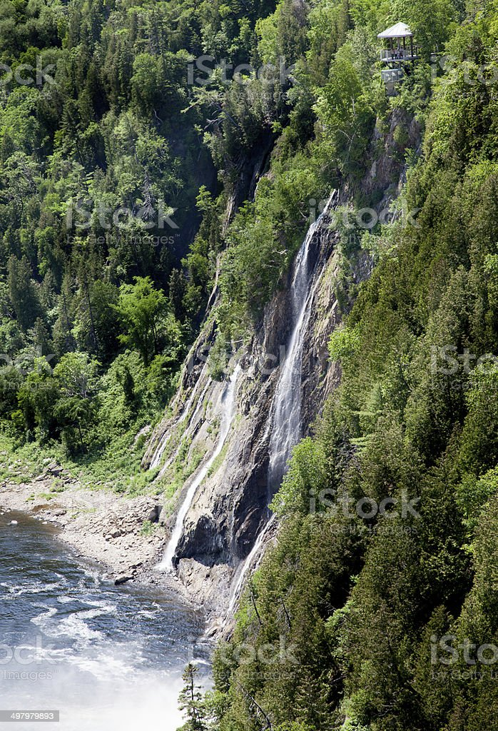 Montmorency Falls, Quebec, Canada stock photo