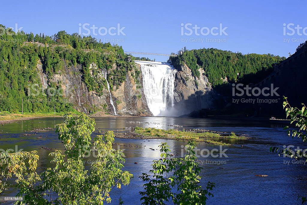 Montmorency Falls Quebec Kanada stock photo