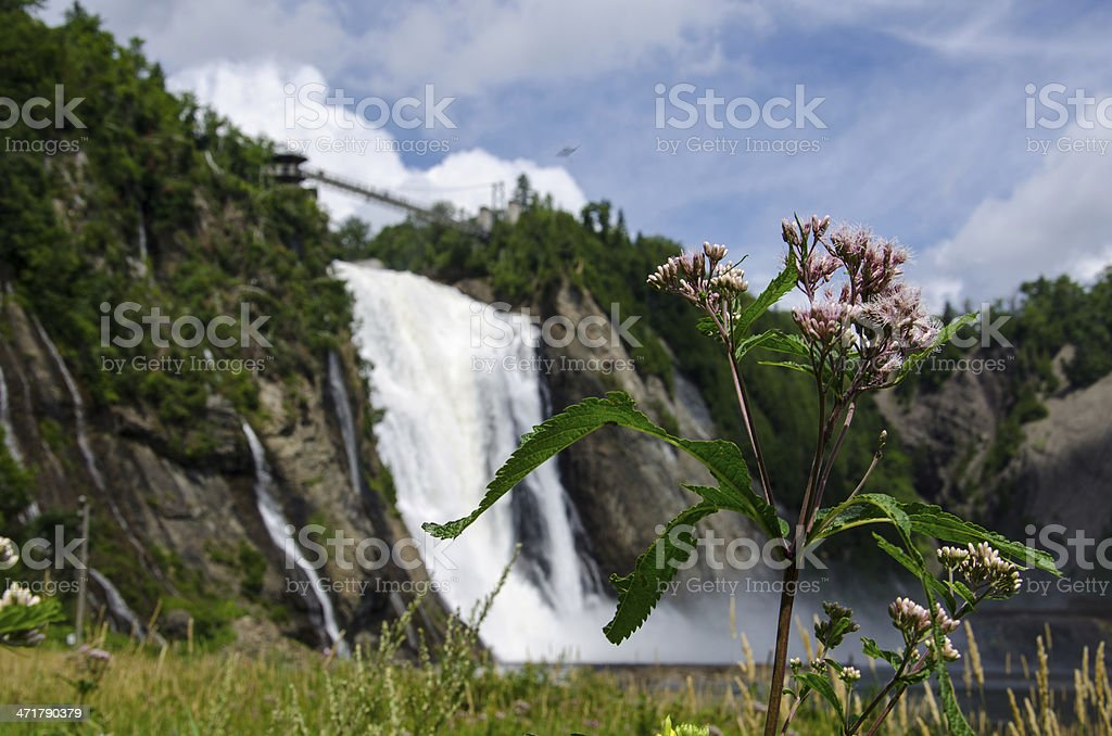 Montmorency Falls, Quebec City, Canada, Waterfall stock photo