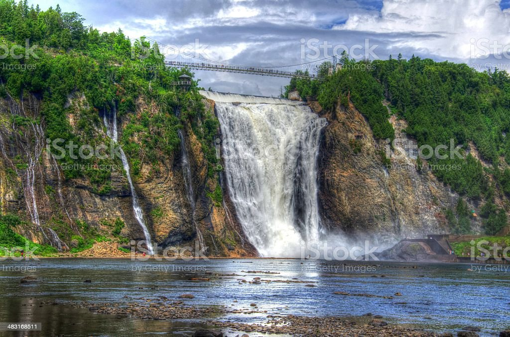 HDR, Montmorency Falls, Quebec City, Canada, Waterfall stock photo