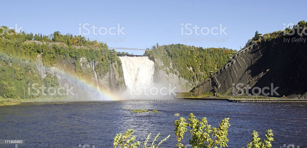 Montmorency Waterfall in Quebec, Canada stock photo