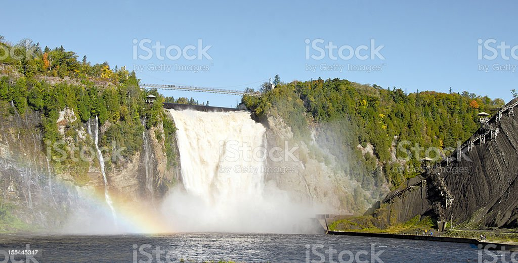 Montmorency Waterfall stock photo