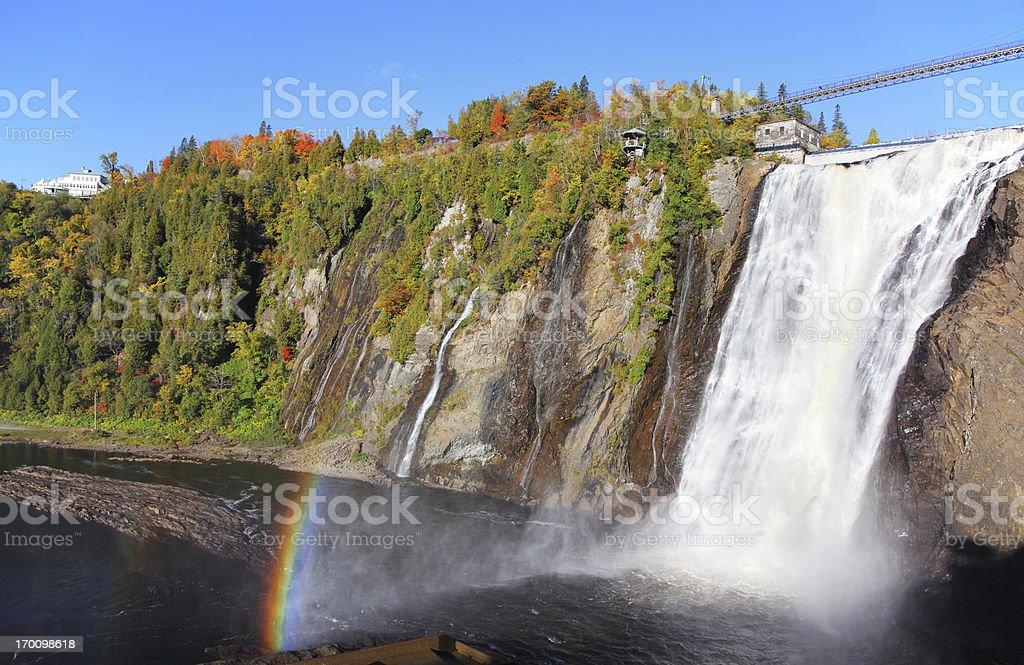Montmorency Waterfalls stock photo