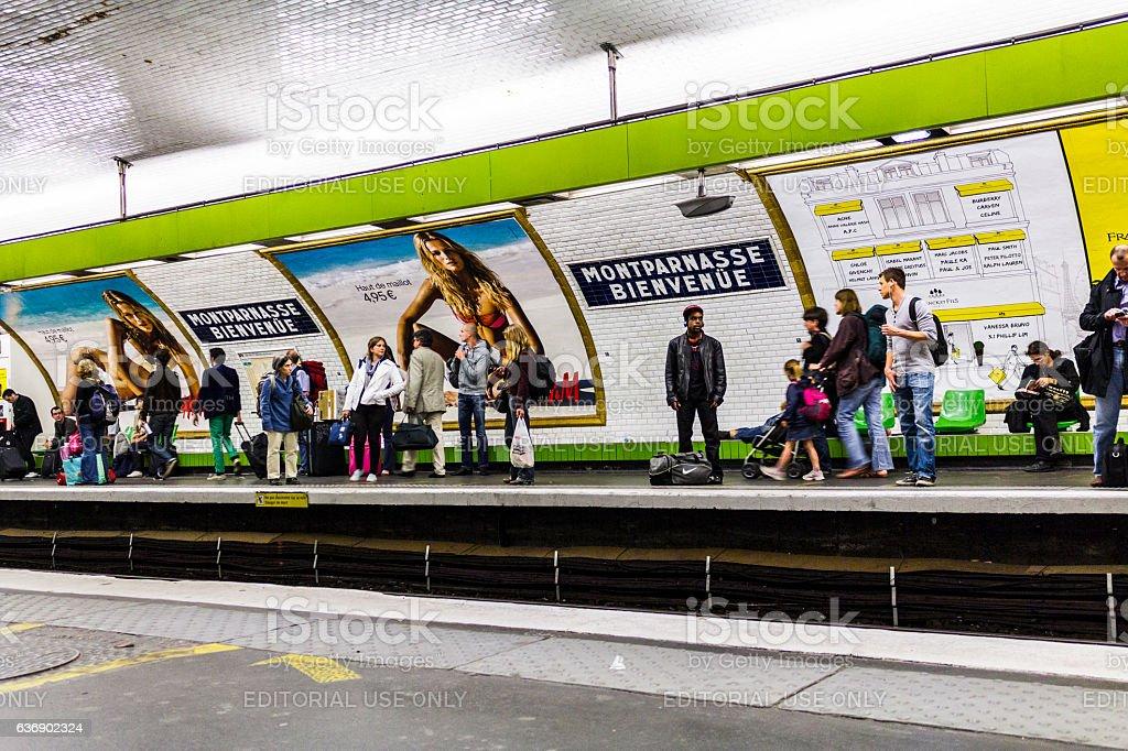 Montparnasse - Bienvenue Metro Station I stock photo