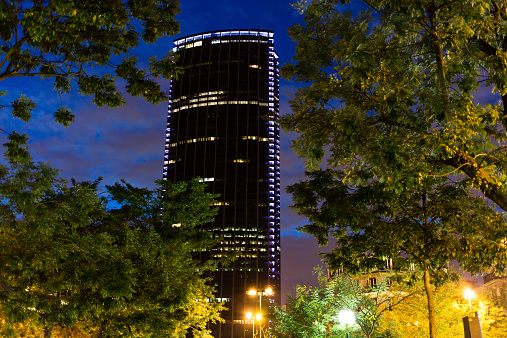 Montparnasse tower by night