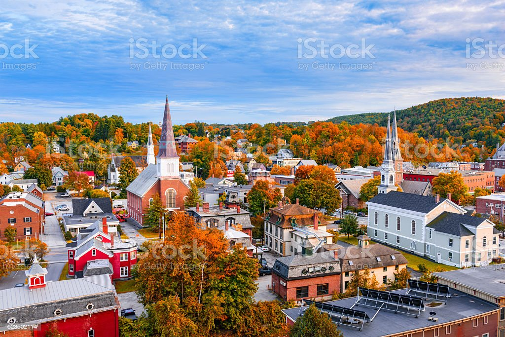 Montpelier, Vermont Skyline stock photo