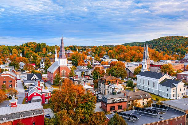 Montpelier, Vermont Skyline stock photo