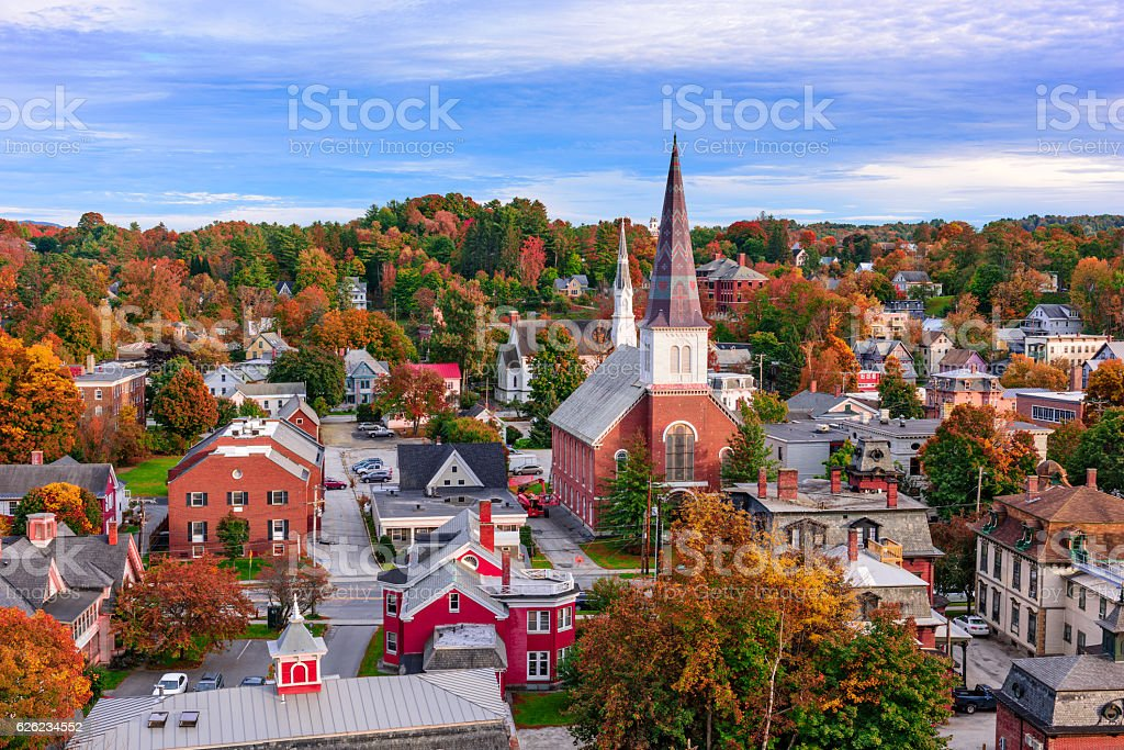 Montpelier, Vermont Townscape stock photo