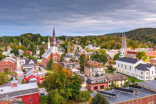 istock Montpelier, Vermont, USA town skyline 1141677049