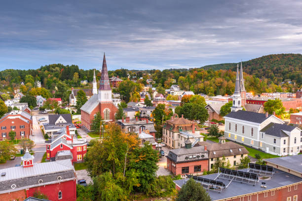 Montpelier, Vermont, USA town skyline stock photo