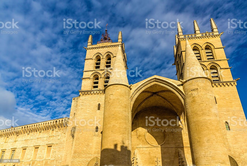 Montpellier Cathedral of Saint Pierre - France, Languedoc-Roussi stock photo