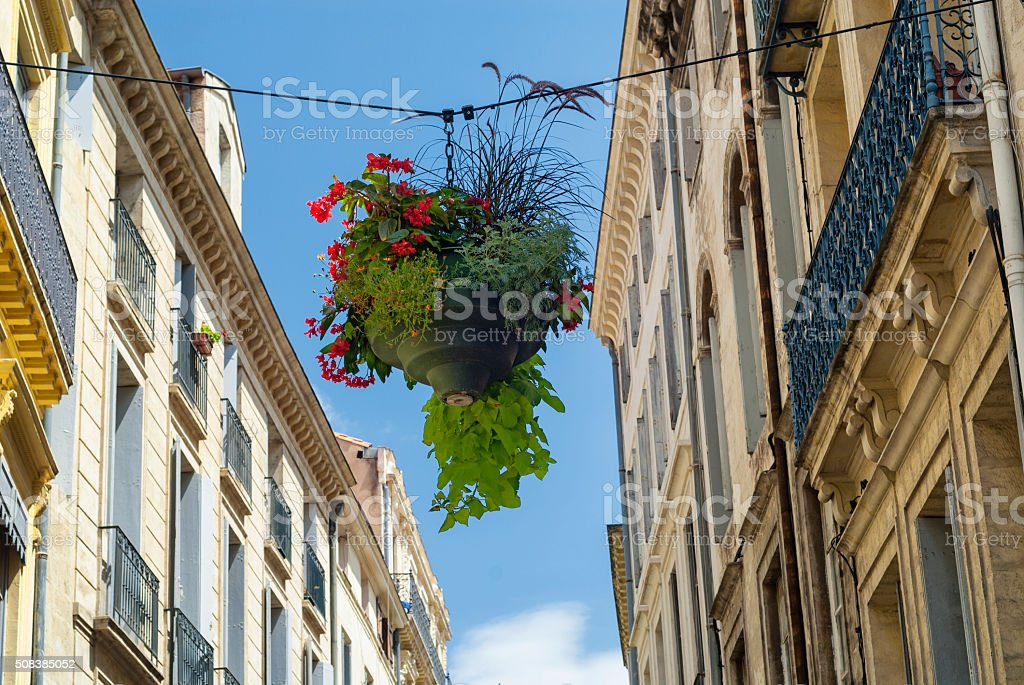 Montpellier (France): old buildings stock photo