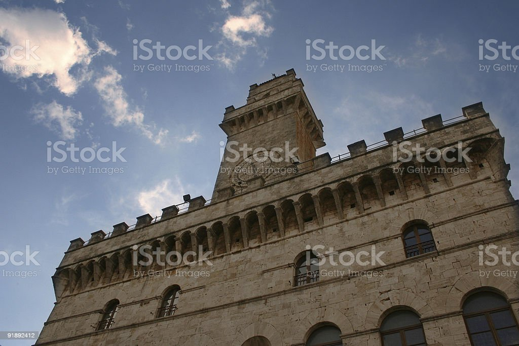 Montpulciano's palace royalty-free stock photo