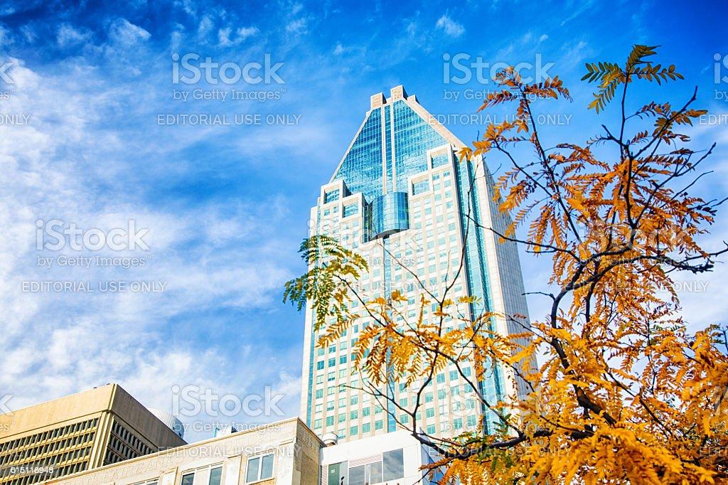 Montreal 1000 de la gauchetiere office building stock photo