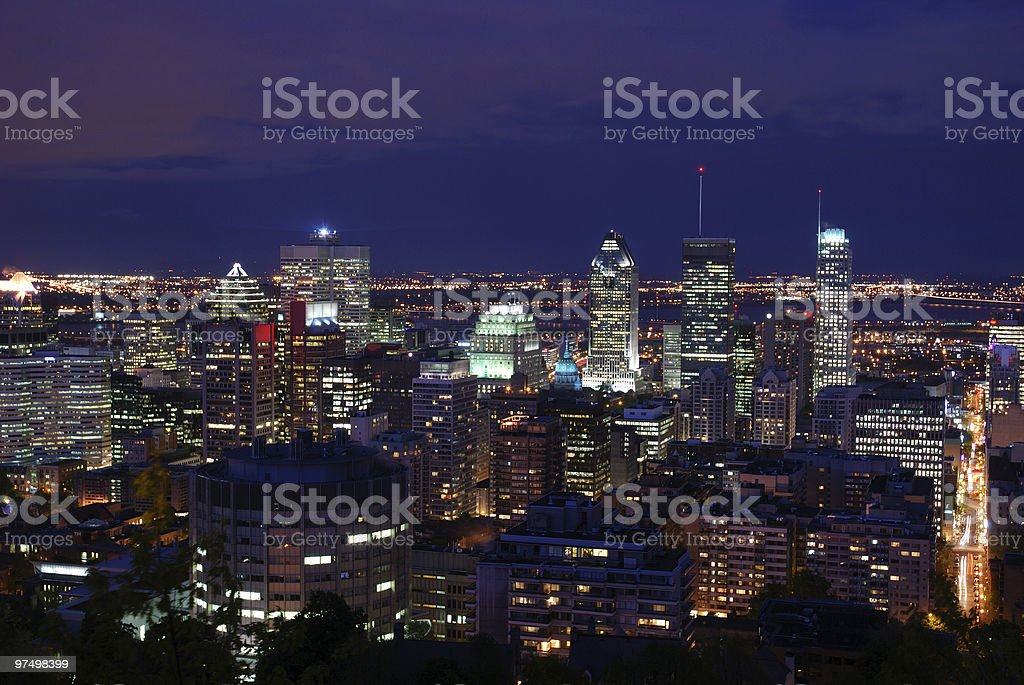 Montreal at night royalty-free stock photo
