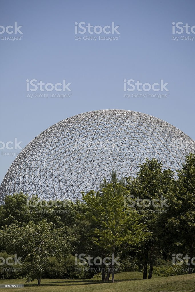 Montreal Biosphere on a Summer Day stock photo