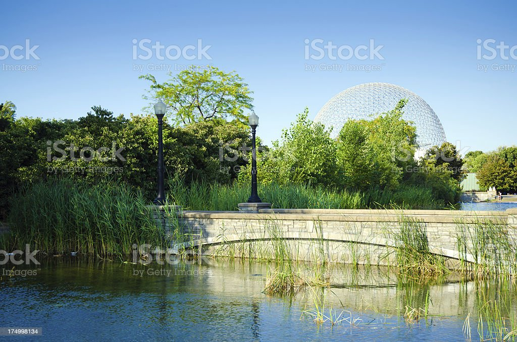 Montreal Biosphere on Saint Helen's Island stock photo