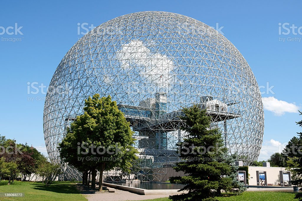 Montreal Biosphère stock photo