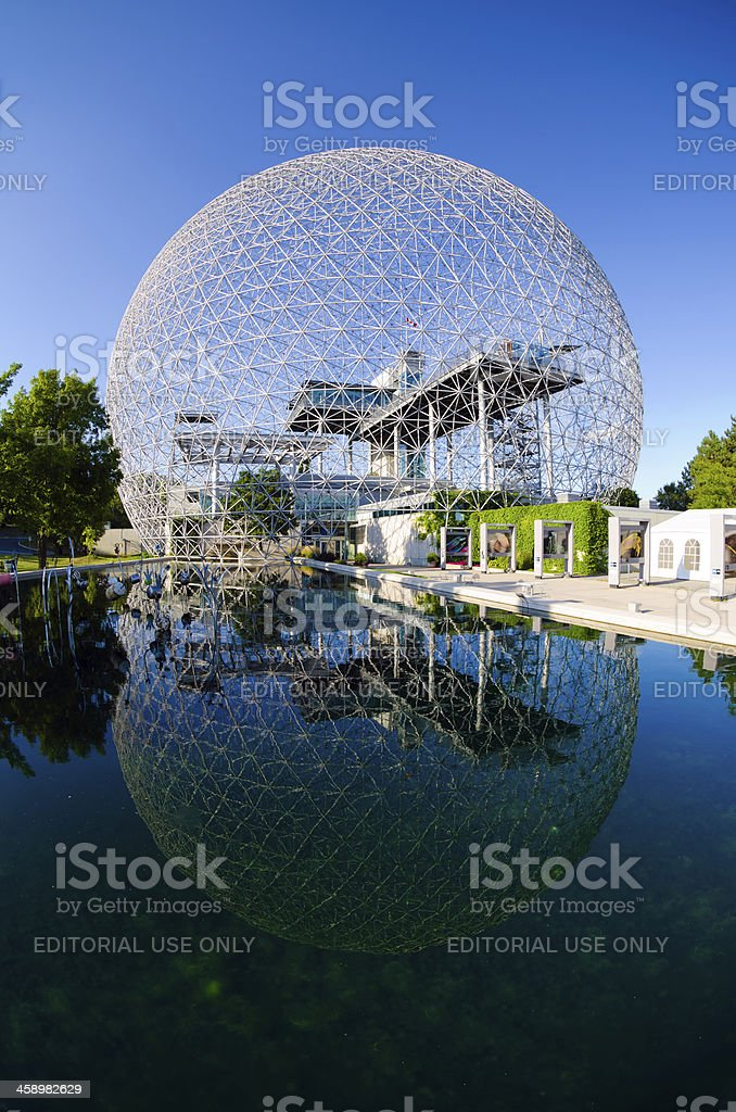 Montreal Biosphère on Saint Helen's Island stock photo