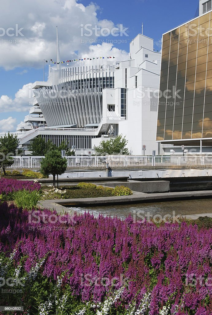 Montreal casino and flower royalty-free stock photo