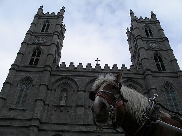 Montreal church stock photo