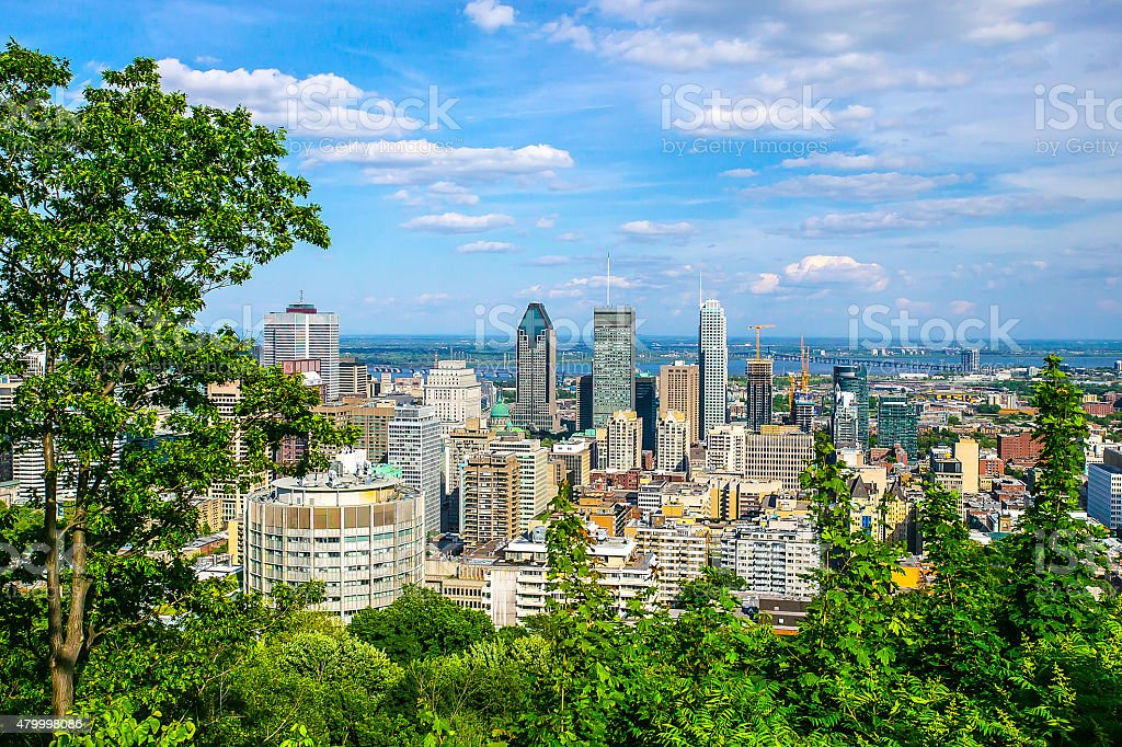 Montreal City in the Summer stock photo