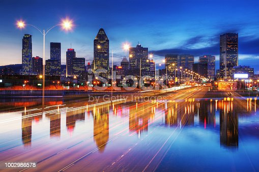 Photo Montage of Montreal City and one of its Highway