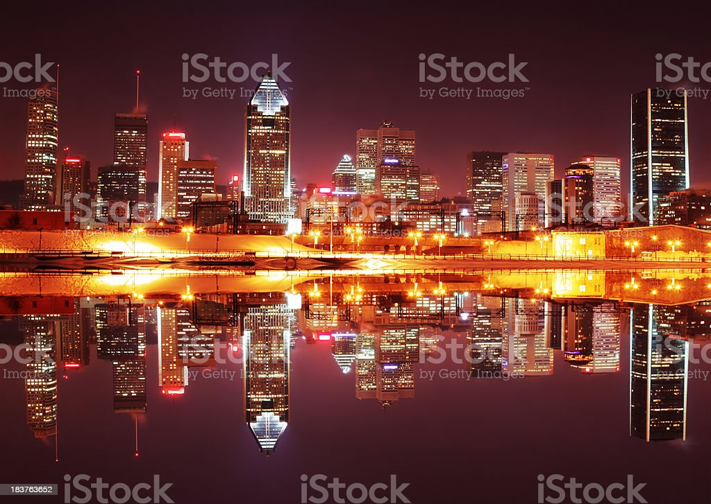 Montreal City Night stock photo