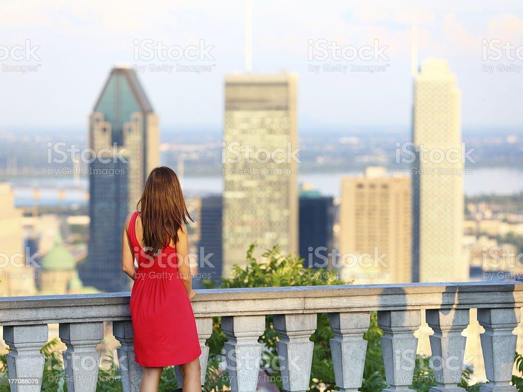 Montreal city woman royalty-free stock photo