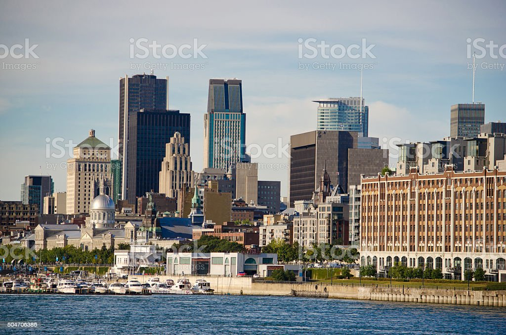 Montreal Downtown stock photo