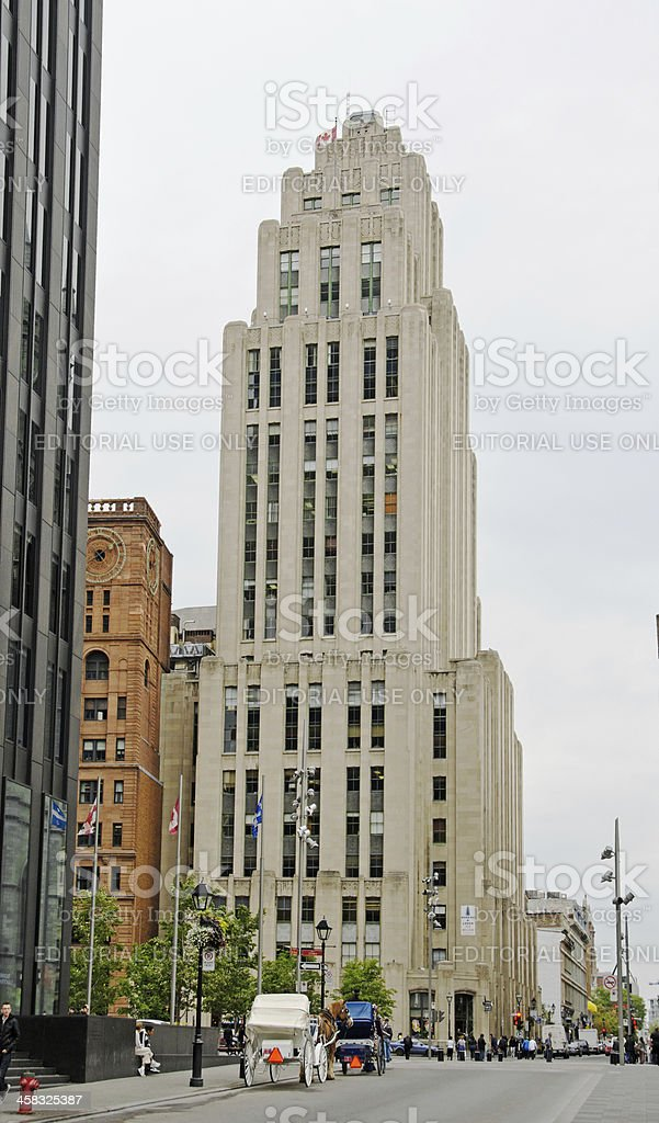 Montreal  First Skyscraper royalty-free stock photo