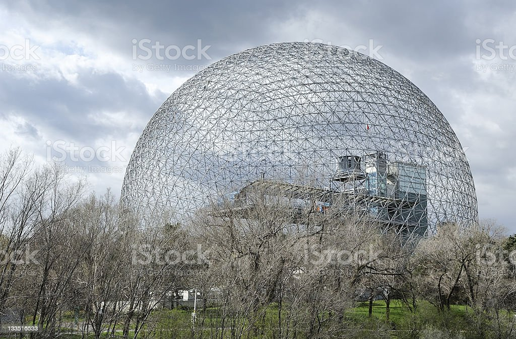 Montreal geodesic dome or biosphere royalty-free stock photo