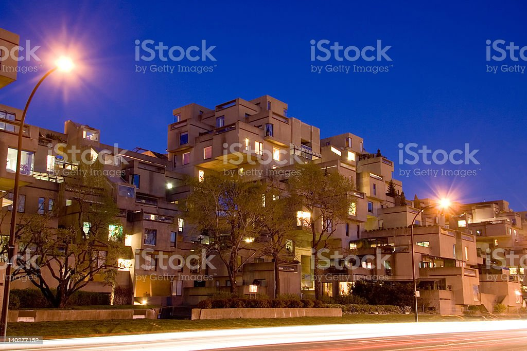 Montreal Habitat 67 stock photo