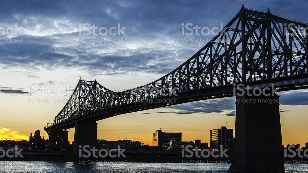 Montreal, Jacques Cartier Bridge, Architecture, St. Lawrence River, Quebec, Canada royalty-free stock photo