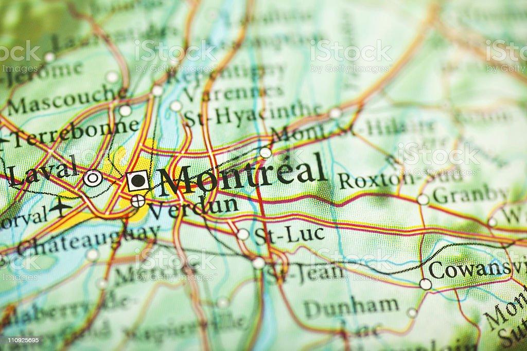 Carte Du Canada Montreal.Carte De Montreal Au Canada Photos Et Plus D Images De Amerique Du