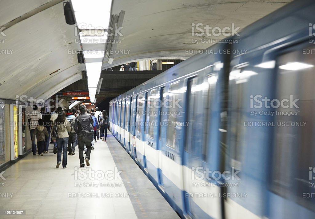 Montreal Metro station Montmorency royalty-free stock photo