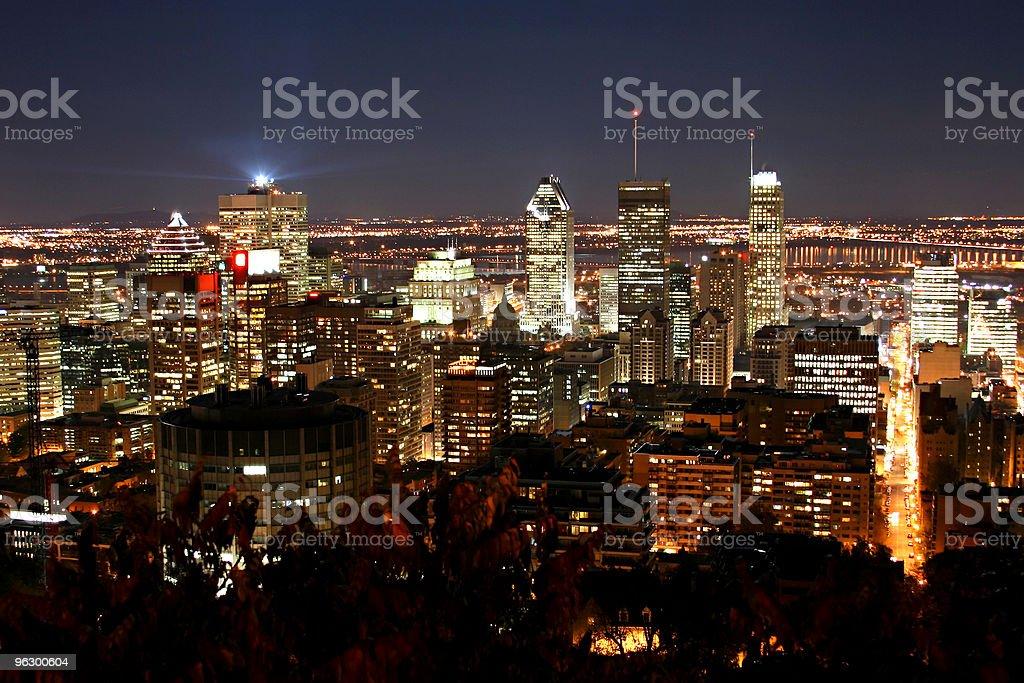 Montreal Nightline stock photo