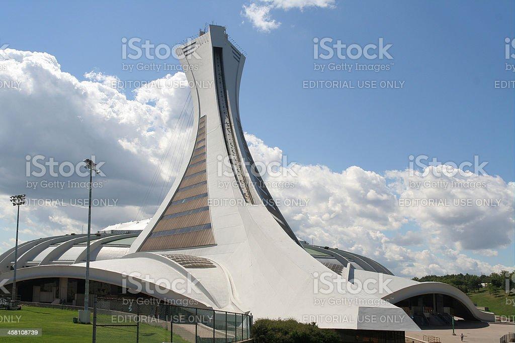 Montreal Olympic Stadium stock photo