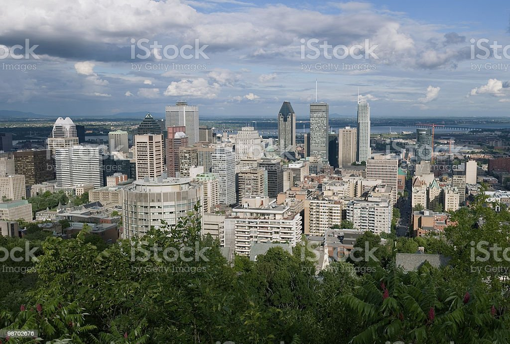 Montreal Panorama royalty-free stock photo