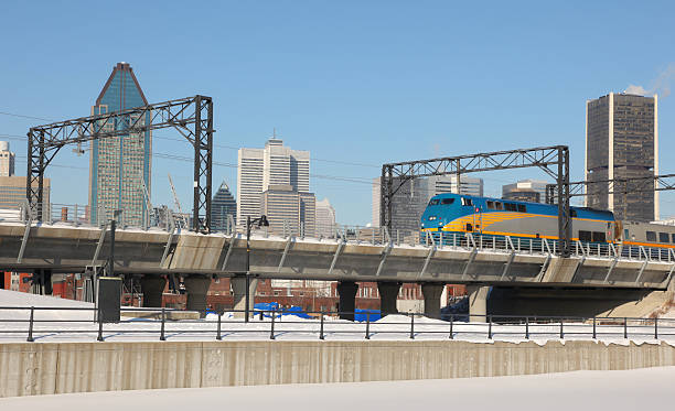 Montreal Public Transportation  electric train stock pictures, royalty-free photos & images