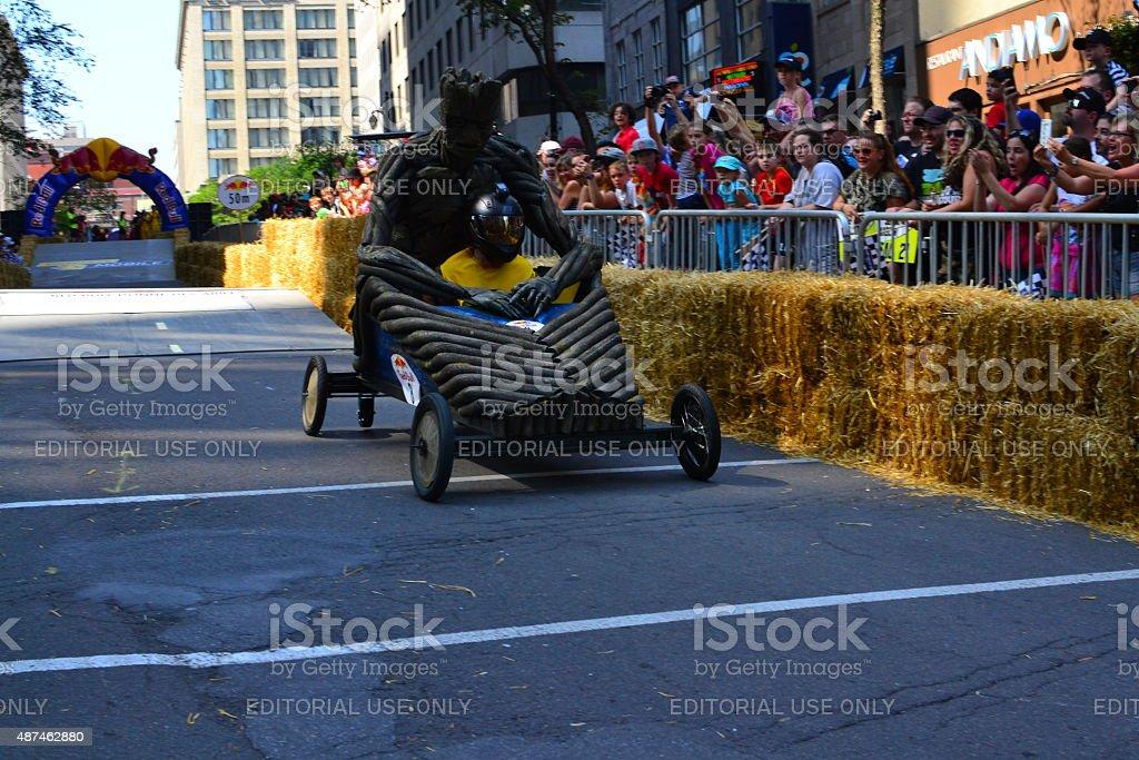 Montreal Red Bull Soapboax Race stock photo