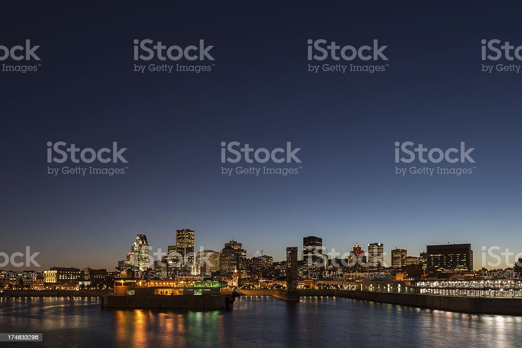 Montreal skyline at sunset royalty-free stock photo