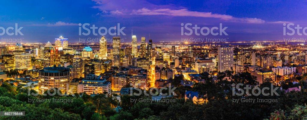 Montreal skyline bei Sonnenuntergang – Foto
